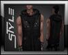 Muskle Hoodie Vest Black