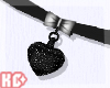 Ko ll Choker Heart Black