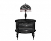 Marble Nightstand w Lamp