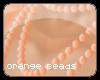 T-Orange Bead Necklace