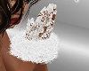 FG~ White Lace Fur Glove