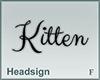 Headsign Kitten