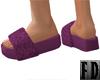 Plush Boho Purple Slide