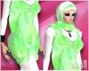 24:Muslimah Green Dress