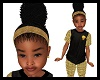 Kids Gold Band Afro Puff