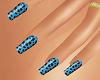 (AF) Tiger Blue Nails