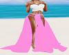 Pink Skirt White Top