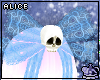 Baby Blue Skull Bow