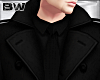 Black Winter Suit Trench
