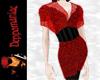 Anya Pantsuit RED Blk