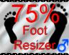 *M* Foot Resizer 75%