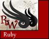 Mini Wyrm Wings Ruby