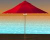 Tropical Red Umbrella