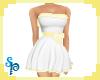[S] White Yellow C Dress