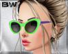 Green Purple Sunglasses