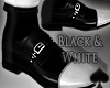 Cat~ Black & White Shoes