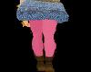 {IQ}jean skirt pink
