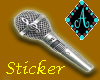 {Ama microphone sticker