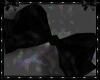 plain bow BLACK