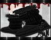 FOX black fur boots