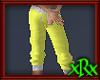 Capri Sweat Pants Yellow
