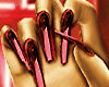 FG Metallic Nails Red