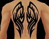 Z Tribal Wings Back Tat