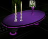 Purple Oval Coffee Table