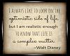 Walt Disney Quote Framed