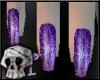 {DT}purple Glitter nails