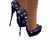 Zapato morado con brillo