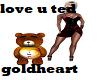 i love u gold heart ted