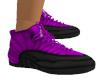 Purple Black Trainers F