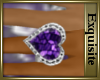 *EE* Amythist Heart Ring