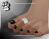 BareFeet -Blk Silver