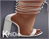 K white tie up heels