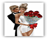 Couples Red Roses Pose