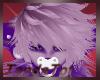 purple furr hair