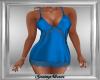 Teal Satin Mini Dress
