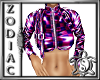 Short PurpleCheck Jacket