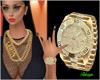 #TLD# Diamond Gold Watch