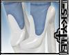 White Heels Blue Socks