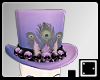 ` Purple Feather Hat