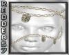 Gold SKull Face Chain