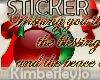 Wishing X-Mas STICKER