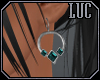 [luc] earrings s aqua