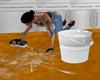 scrub/cleaning floor