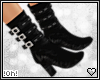 !0h! Strappy Boots  Blk