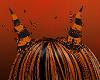 FG~ Orange & Black Horns