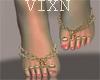 Jewel Bare Feet